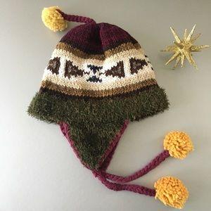 Accessories - Pom Pom Hat Peruvian Chullo